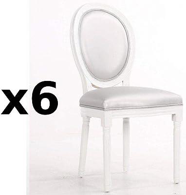 PEGANE Lot de 2 chaises Littau en Cuir Coloris Bordeaux
