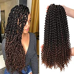 ♥Hair Material: Made with 100% high quality low temperature hot water setting Kanekalon synthetic fiber. ♥Length: 18 Inches. Weight: 80g/Pack, 22 strands/pack, 7packs/lot, Total 154 strands. Usually 6-7 packs can full a head. ♥Advantage:Our Passion T...