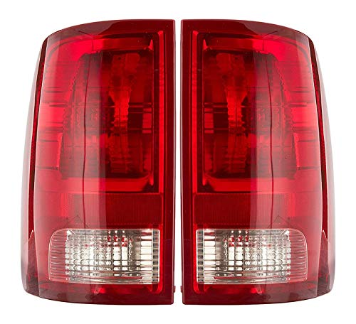 Dependable Direct Pair of Tail Lights for 2009-2017 Dodge Ram 1500 and 2010-2017 Dodge RAM 2500, 3500 - CH2818124 CH2819124 - Does not include bulb