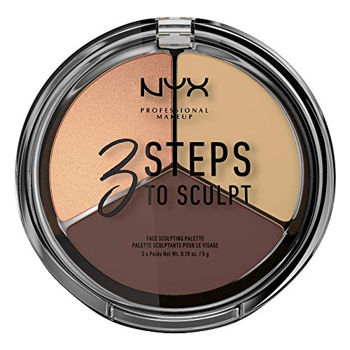 NYX Professional Makeup Paleta de Contouring & Iluminador 3 Steps to Sculpt Face Sculpting Palette tono  3  Medium color  Beige