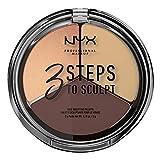 NYX Professional Makeup Paleta de Contouring & Iluminador 3 Steps to Sculpt...