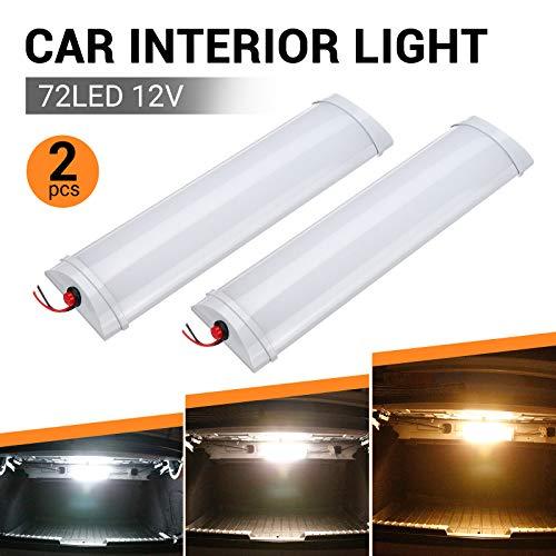 SUPAREE 2X 12V LED Innenbeleuchtung LED RV Deckenleuchte Dachbeleuchtung für Wohnmobil/Wohnwagen/Wohnmobil/Wohnmobil/Lieferwagen/Boot(3 Farbmodus)