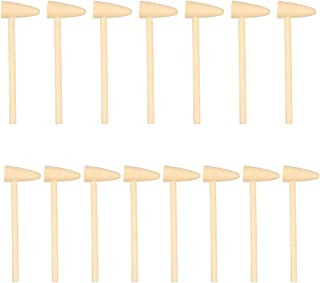 STOBOK 15pcs Wooden Mini Hammers Small Mallets Pounding Toy Crab Seafood Crackers Toy Massage Tool for DIY Carving Stampin...
