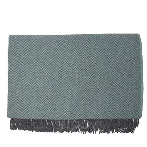 McLaughlin's Irish Shop Luxury Irische Wolldecke aus 95% Wolle und 5% Cashmere