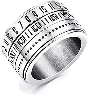 OPK Korean Style Rotatable Titanium Steel Ring For Men-8 US