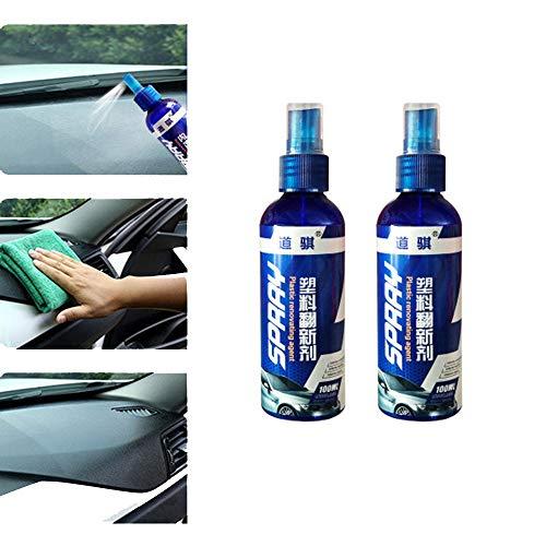 LCJDD 100 ml kratzfestes hydrophobes polnisches Nano-Spray, Autowachs-Polierspray, Innenreiniger und Schutzmittel für die Glatte Oberfläche des Autos (Color : B, Size : 2pcs)
