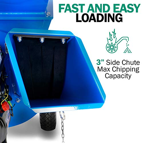 Landworks Super Heavy Duty 7HP Gas Powered Multi-Functional Chipper Shredder