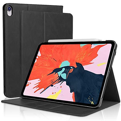 iPad Pro 11 本革 ケース 2018新発モデル SENGBIRCH Apple pencilのマグネット装着とワイヤレス充電機能対...