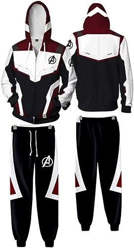 WTZFHF sweat à capuche Costume des Hommes de la Mode Chandail à Capuchon, Avengers Cosplay Costume Quantum Polychrome Impression numérique Fermeture à glissière Pull à Capuche