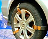 Easy Emergency Car Snow Tire Chain - Heavy Duty Universal Fit Traction Anti-Skid