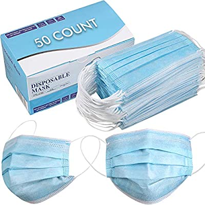 Disposable Face Mask - Pack of 50 - Blue from 7F04Y