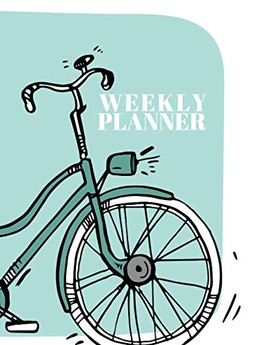 Classic bike Weekly Planner Schedule: Notes, To Do's, bullet journal, minimalist design insert (Twin Classic bike)