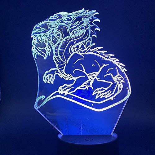 3D LED nachtlampje Chinese draak geschenk voor kinderen meerkleurig Ribbon decoratieve verlichting verzenden vrienden vakantie geschenken