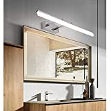 Yafido Aplique Espejo Baño Interior LED 12W luz Baño Soporte Ajustable Lámpara de Pared Espejo Iluminación para Maquillaje Blanco Neutro 4000K 1000LM 50CM No-regulable IP44