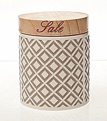 Salzdose ARTIC, grau-weiß, aus hochwertiger Keramik, 840 ml. Volumen von ANDREA FONTEBASSO