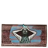 Photo de VIALESCARPE - GAZPACHO Portefeuille multi-poches Victoria en PVC récupéré avec impression numérique, dos et intérieur peint à la main Dimensions : 10 x 2 x 20 cm Femme Multicolore TG. UNI