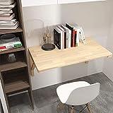 NJYT Faltwand Tabelle Massivholz-Computer-Tabelle for Privatanwender Schreibtisch Home Office Schreibtisch