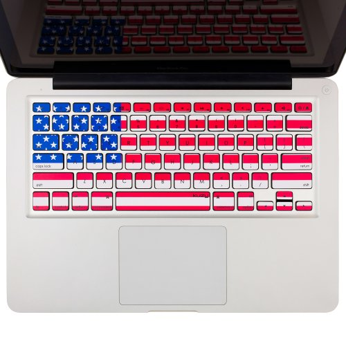"""Kuzy - Stickers USA Flag Keyboard Skin for MacBook Pro 13"""" 15"""" 17"""" (with or w/Out Retina Display) and MacBook Air 13-inch Stickers - USA"""