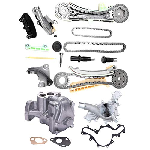 CCIYU Kit de cadena de distribución de bomba de agua de aceite compatible con Ford Explorer Sport Trac…