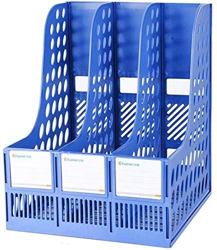 Archivo de archivador, archivo de revistas Papelería Messh Revista Rack Rack de archivos de tres capas en la mesa de oficina Administrar estante Folder Shelf Plastic Expanding File File Caja de archiv