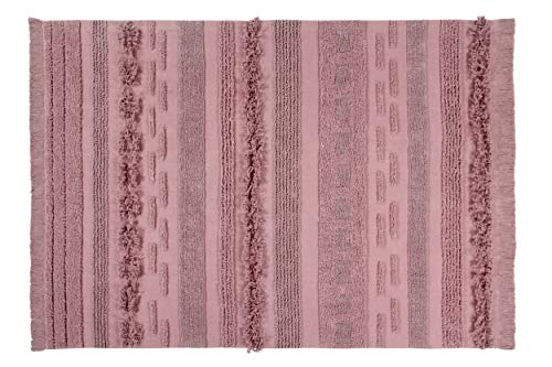 Lorena Canals - Alfombra lavable Air Canyon Rose - Rosa cañón - 97 % algodón 3 % otras fibras - 140x200 cm