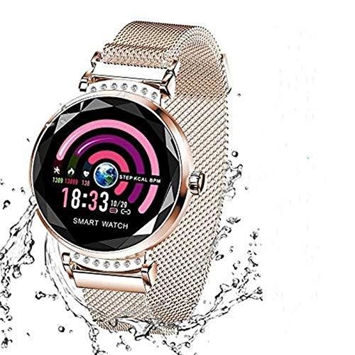 Wysgvazgv Fitness Tracker per Donna H2 Orologio Fitness Activity Tracker Cardiofrequenzimetro da Polso Impermeabile IP67 Smartwatch Pedometro Contapassi Calorie per Samsung Huawei iOS Android (Oro)