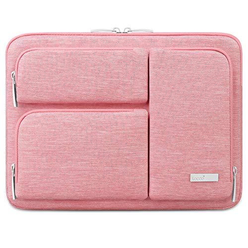 """Lacdo Capa Bolsa para 13"""" Novo MacBook Pro A2338 M1 A2251 A2289 A2159 A1989 A1706 A1708, 13"""" Novo MacBook Air A2337 M1 A2179 A1932, 12.9"""" Novo iPad Pro 5th 4th 3rd 2021-2018 Notebook, Rosa"""