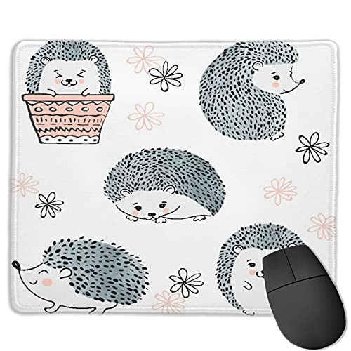 Gaming Mouse Pad Benutzerdefiniert,Niedliche Aquarelligel isolieren auf weißen Tier-Zeichentrickfiguren,Office Rectangle rutschfeste Gummi-Mauspad für Computer Laptop 9.8