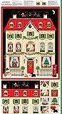 Haus Adventskalender Weihnachten Urlaub Baumwolle Quilting
