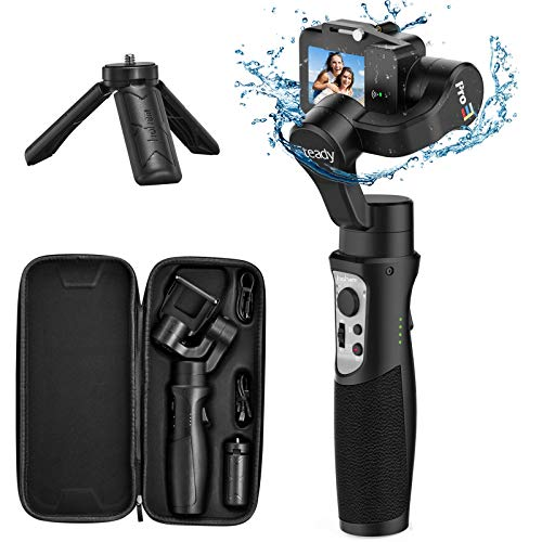 Estabilizador de gimbal 3 eixos para câmera de ação GoPro portátil Pro Gimbal com controle de aplicativo de lapso de tempo de movimento para Gopro Hero 7, 6, 5, 4, 3, SJ CAM, YI CAM, Sony RX0 - Hohem, preto