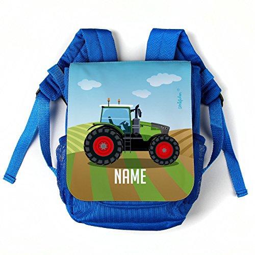 Striefchen® Rucksack für Kinder - Motiv: Traktor - mit Namen des Kindes