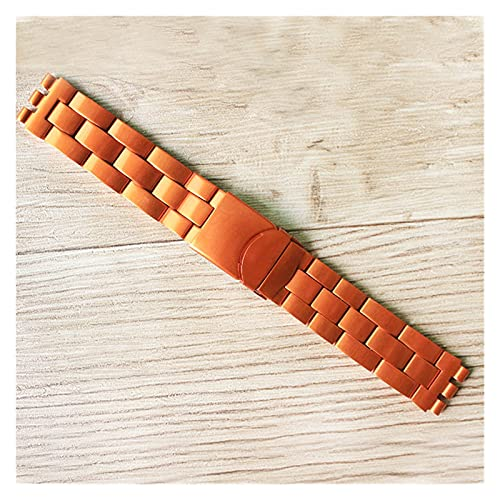 ZRNG ¡Calor!Ajuste de la Banda de Reloj de Aluminio para la Correa de Swatch Swatch 19 mm de Reloj Ligero Accesorio (Band Color : Orange, Band Width : 19mm)