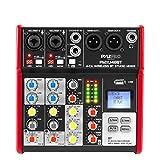 Pyle Sound 4 Channel Bluetooth Compatible Professional Portable Digital DJ Console W/USB Mixer Audio...