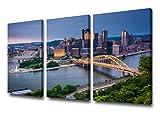 Pittsburgh City Center Skyline Giclée-Kunstdruck auf