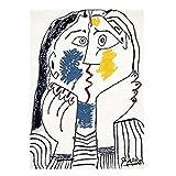 Pablo Ruiz Picasso Artista Póster Artístico Pintura Carteles Decoración para sala de estar Pintura de lienzo Arte de la pared Imagen Decoración para el hogar Impresiones artísticas 50x70cm Sin marco