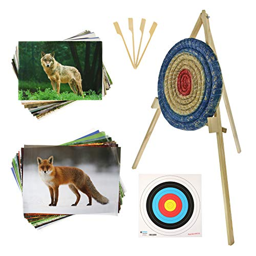 BSW STRONGHOLD EINSTEIGERSET | Zielscheibe aus Stroh - inkl. Ständer und Auflagen (80x8, Strohscheibe); Zubehör für Bogenschießen, Pfeil und Bogen, Bogensport