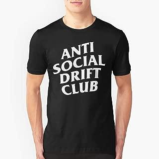 Anti Social Drift Club Slim Fit TShirtT shirt Hoodie for Men, Women Unisex Full Size.