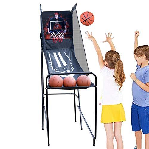 LXLA Juego de Baloncesto Arcade de Baloncesto para Niños/Niños Pequeños, Kit de Juego de Tiro Electrónico de Aro con Marcador, 3 Bolas y Sonido - para Dormitorio/Guardería/Patio Trasero