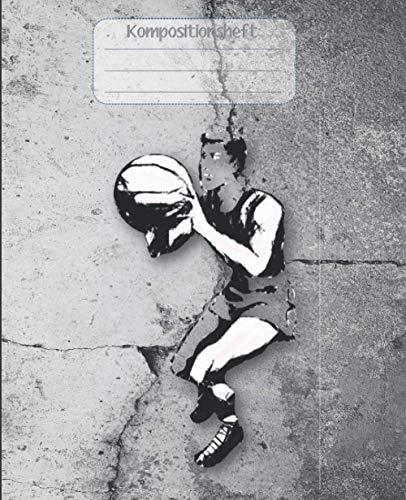 Kompositionsheft: D.| Basketball-Notizbuch | GRAFIKPAPIER (7,5 x 9,25 Zoll) 110 Seiten | Für Jungen Mädchen Kinder Jugendliche Studenten | Basketball-kompositions-notizbuch |