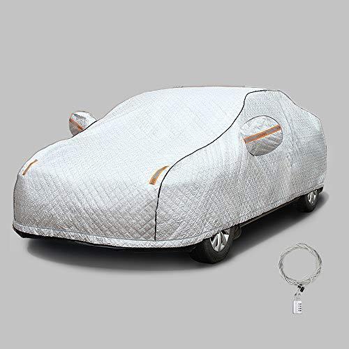 CLA Vollgarage Schneeabdeckung, 4-lagig, atmungsaktiv, Sonnenschutz, wasserdichte Autoabdeckung, winddicht, für Autos drinnen und draußen