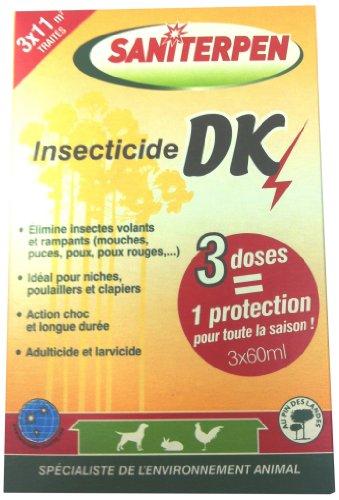 Saniterpen Insecticide DK pour Locaux et Matériel d'élevage 3x60ml