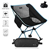 HCcolo Lightweight Compact Folding Camping Backpack Chairs,...