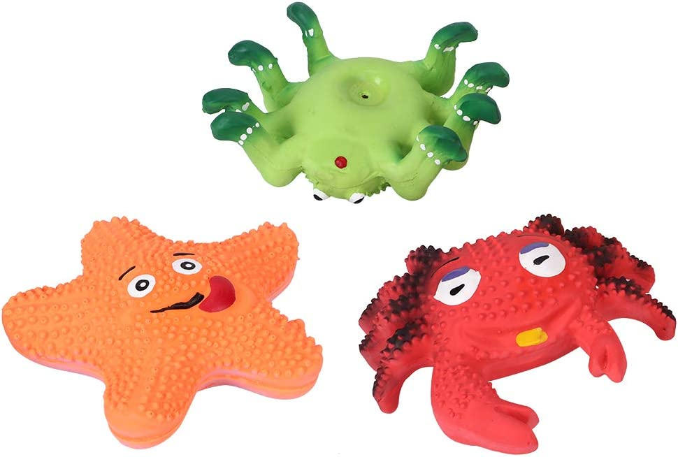 XQAQX Pet Dog It is very popular Toys Dogs Squeak Latex Crab Brand Cheap Sale Venue Spi 3PCS Cats
