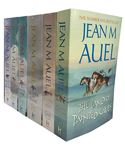 Jean M Auel 6 Books Earths Children Collection Pack Set (The Valley of Horses...