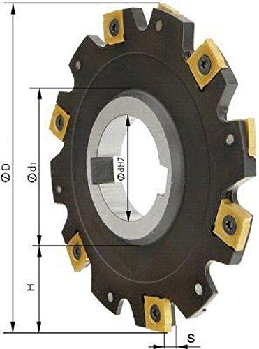 Scheibenfräser o. Bd. D 100 x 12 mm Z 10