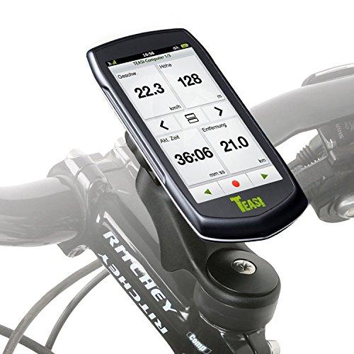 Wicked Chili Head Bicicleta/Soporte para navegador, navegador², Teasi Pro y SMAR.T de alimentación (sin Vibraciones, Goma, Negro, Quick4fix-de Sistema, Fabricado en Alemania, 20% policarboxílicos)