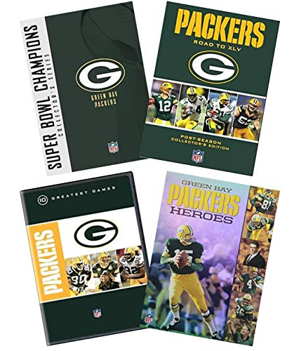 Ultimate NFL Green Bay Packers 18-Disc DVD Collection: Super Bowl Collection / Road to Super Bowl XLV / 10 Greatest Games / Green Bay Packers Heroes