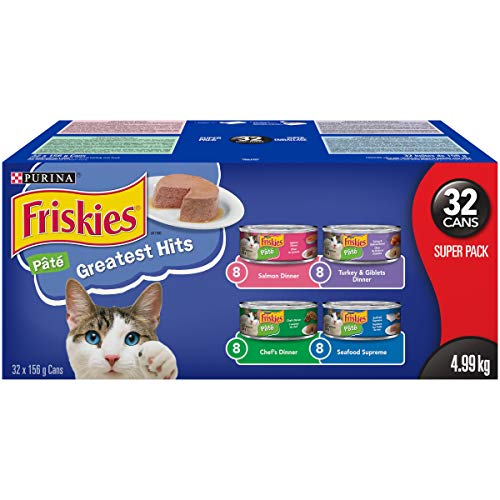 Friskies Purina Pate Greatest Hits Cat Food Super Pack 32-156 g Cans, 1 Case