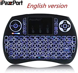 Calvas IPazzPort Mini 2.4G Wireless QWERTY Keyboard Portable Air Mouse Touchpad Backlit Keyboard Russian Spanish Hebrew Fr...