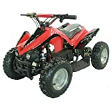 FamilyGoKarts Youth Electric Kids Quad Sport ATV for Children with Reverse - Red